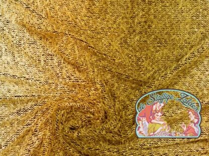 Knit colour fade ocher jacquard jersey