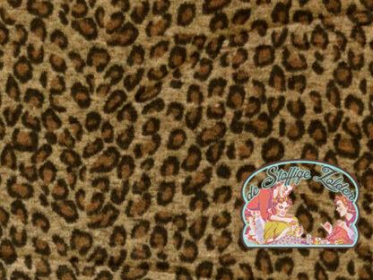 Luipaard geweven harig jacquard