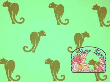 Panther cat 3D flock mint tricot jersey