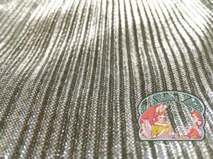 Shiny plisse silver