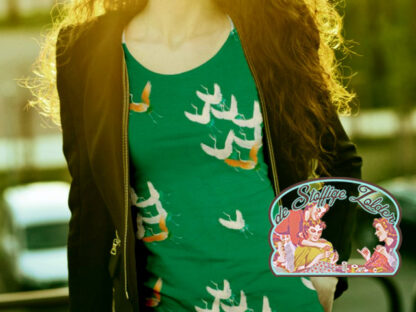 Mies&Moos crane green jersey tricot