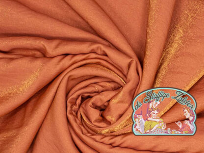 Woven shiny copper gold viscose