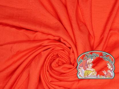Woven shiny red viscose