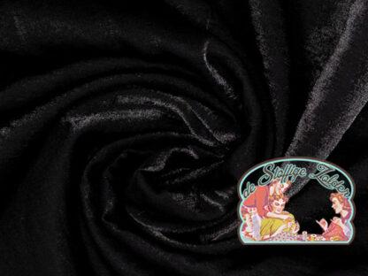 Woven shiny black viscose