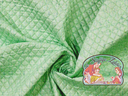 Quilted green melange jacket fabric