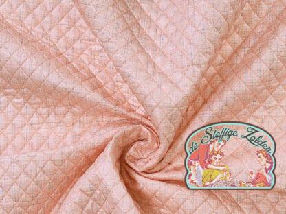 Quilted pink melange jacket fabric