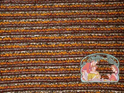Knit wool boucle stripes ocher