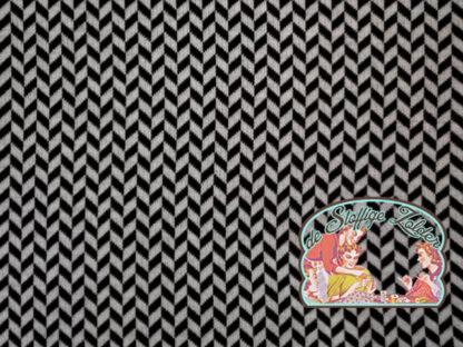 Herringbone black on white jacquard
