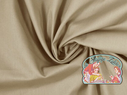 Heide uni beige cotton
