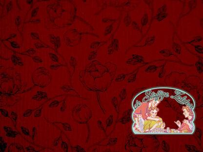 Flowers red tetra babycotton