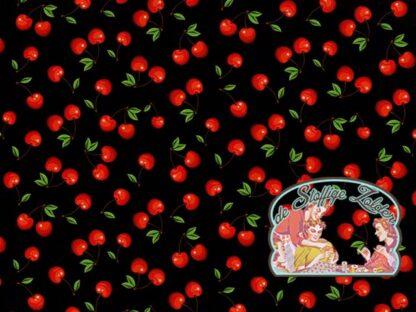 Cherries black cotton