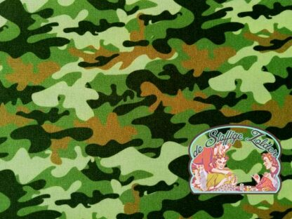 Army green camou cotton