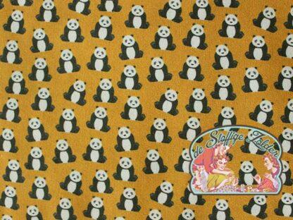Toni Panda ocher cotton