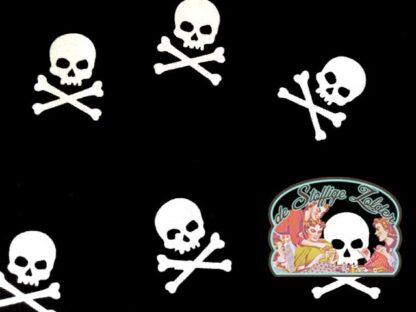 Skulls black cotton