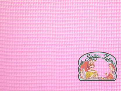 Roze katoen wafelstof