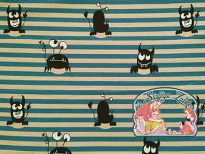Monsters blue stripes softshell