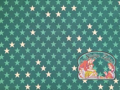 Petrol green stars softshell