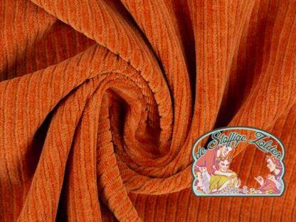 Juna uni orange stretch breitcord corduroy