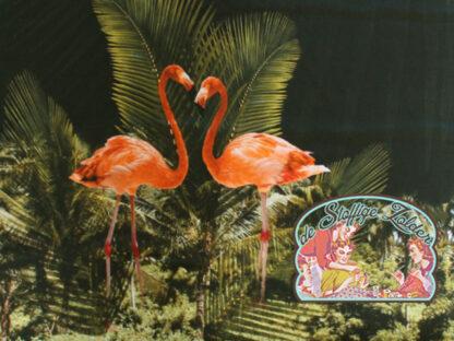 Flamingo paneel tricot