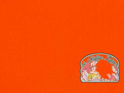 Gitte uni persimmon bright orange tricot jersey