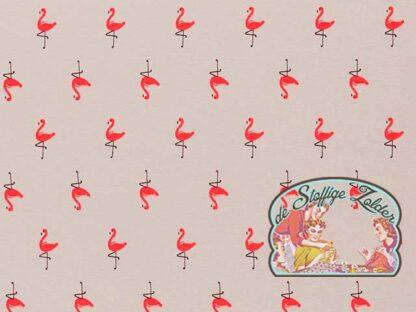 Vera flamingo grey tricot/jersey