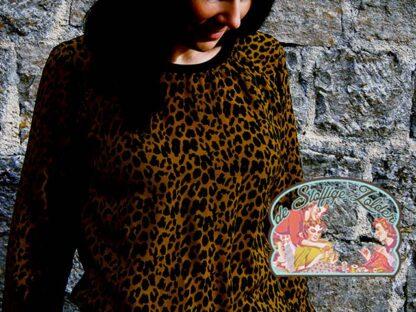 Leopard pauline ochergold viscose