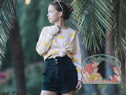 Oranges primrose pink french terry sweater