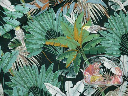 Jungle green gables viscose rayon voile